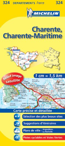 CHARENTE / CHARENTE - MARITIME 11324 CARTE ' LOCAL ' ( France ) MICHELIN KAART (KAARTEN/CARTES MICHELIN)