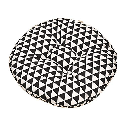 Nowbetter - Cojín Redondo para Silla de Oficina, Silla de Comedor, Muebles de jardín, 40 x 8 cm, diseño Triangular,...