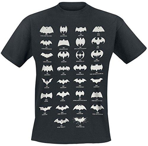 Batman-Herren-T-Shirt-Batman-All-Logo