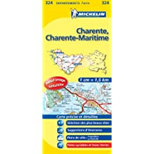 Carte DPARTEMENTS Charente, Charente-Maritime