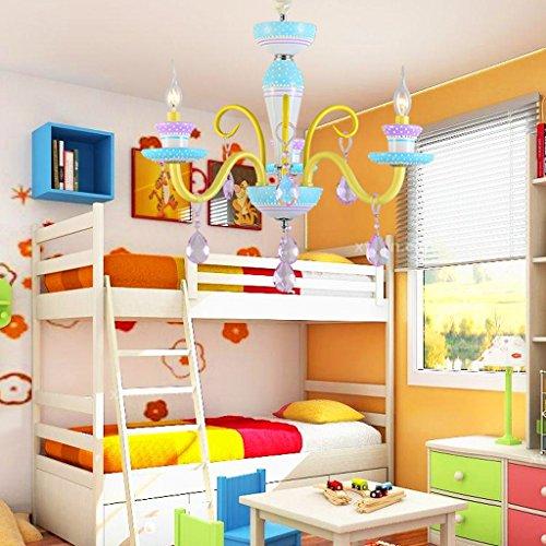 Lustre Creative simple chambre chaude personnalité fille princesse enfants chambre salon lustres en cristal Éclairage décoratifA+ ( taille : 3- heads )