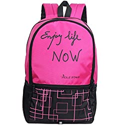 POLE STAR HERO 32 Ltr Pink & Black Casual Backpack