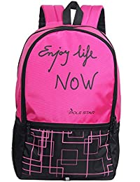 "Pole Star""Hero"" 32 Lt Pink Black Casual Backpack I bagpack"