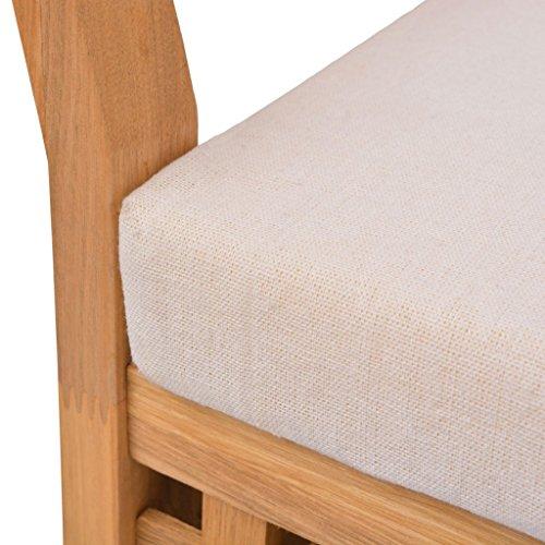 Festnight Sitzbank Holz Truhenbank mit Stauraum aus Massives Walnussholz Multifunktionsbank 93x49x47cm Sitzkomfort für Flur Schlafzimmer oder Bad - 6