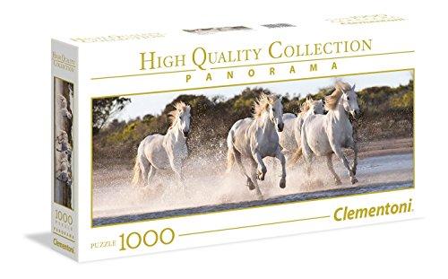 "Clementoni 39441\"" Galoppierende Pferde Puzzle NP Panorama, 1000 Teile"