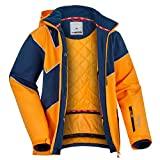 Fifty Five Saint Andrews Herren Skijacke Snowboardjacke Orange Blau XL Warme Winterjacke mit Kapuze Winddicht Wasserdicht Atmungsaktiv