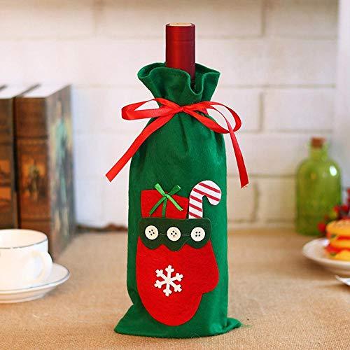 ekorationen Santa Flasche Rotwein Wein-Set Set Family Hotels Party Party Tisch Dekoration ()