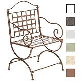 CLP Sedia di ferro LOTTA in stile rustico, (fino a 3 colori a scelta) marrone antico