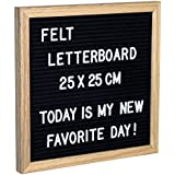 Gadgy Feutre Letter Board   Retro Tableau D'affichage Rainure Chenaie 25 x 25 cm.   Avec 290 Lettres et Chiffres Blanc