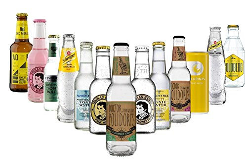 Ultimate Tonic Water Paket - 13x Tonic Power - Thomas Henry, Dr. Polidori, Fever-Tree, Goldberg, 28Drinks, Aqua Monaco + Cocktail Booklet