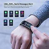 WiMiUS Fitness Armband mit Pulsmesser, Wasserdicht IP68 Fitness Tracker, Aktivitätstracker, Schlaf Monitor,Schrittzähler, GPS, Kalorienzähler Uhr Smart Watch für Damen Herren (Schwarz) - 6