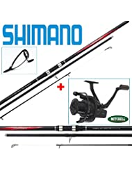 PACK SURF SHIMANO VENGEANCE SURF 425 BX-J + MITCHELL AVOCAST LONG CAST BLACK EDITION 7 000