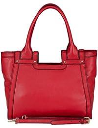 Un Article d'exposition: BELUCIA CICCIANO Bag, Sac d'épaule, véritable cuir de veau de grain, Couleur - Rouge