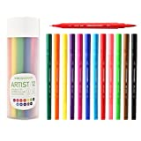 #10: 12 + 1 Dual tip Brush pens and Fine-liners set ( Professional Imported Product )