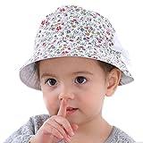 Youkara Sombrero de Mariposa Desmontable de Dos Caras Florales de Doble Cara Sombrero Del Pescador Del Bebé Gorra de Verano Bebé Zapatos de Los Niños Pequeños Sombrero Del Sol (1)