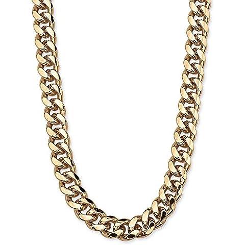 Neno Buscotti - Cadena cordón para hombre - Color oro amarillo - 76,2 cm