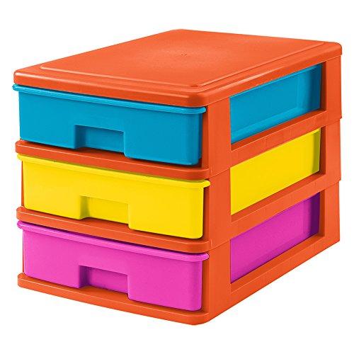 Tolles Kunststoff 3 Teile kleine Schubladen, Mehrfarbig -