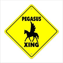 """Pegasus Crossing Sign Zone Xing 