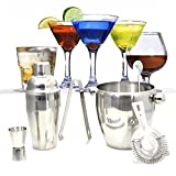 Costway Cocktailshakerset Cocktailmixerset Bar-Cocktailset 6-teilig Edelstahl