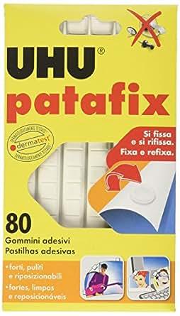 UHU Patafix D1620 - Gomma adesiva removibile, Bianco, confezione da 80 gommini