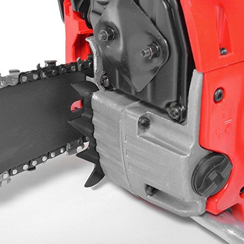 HECHT Benzin-Kettensäge 44 Motorsäge Benzin (2-Takt-Motor mit 2,7 PS, 40cm Schwertlänge) - 3