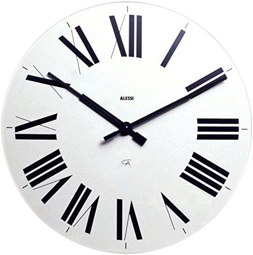 Alessi 12w firenze orologio da parete in abs, movimento al quarzo, bianco