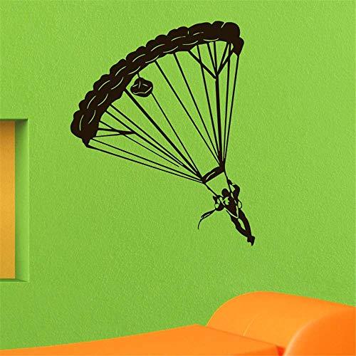 Fallschirmspringen Wandaufkleber Ultimative Fallschirmspringen Dekoration Vinyl Abnehmbare Silhouette Wandaufkleber 59X72Cm