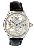 Reloj de caballero Davis 0890 mecánico, correa de piel, color negro de Davis