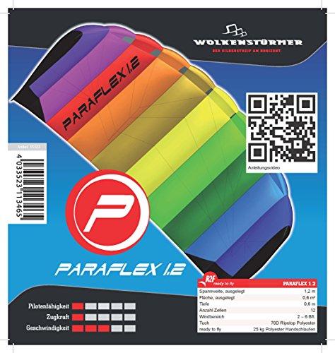 Wolkenstürmer Kite Paraflex Basic 1.2 Rainbow Lenkmatte