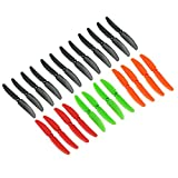 Genuine Gemfan Rainbow Pack 5030 5x3 Propellers 24 Pieces (12 CW, 12 CCW) Facil&co© -12 Black, 4 Orange, 4 Red, 4 Green - Genuine & High Quality 5-inch Quadcopter and Multirotor Props
