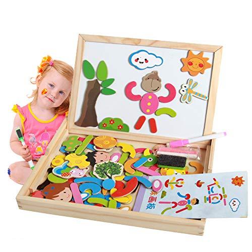 e Spiel Spielzeug Bildung Kinder magnetisches Puzzle Spielzeug Doppelseitig Gemälde Staffelei Geeignet für Kinder über 2 Jahre ()