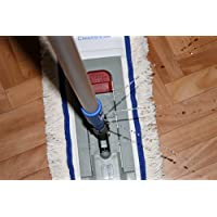 """CleanSV® """"ready to use"""" WischSet 40 cm mit Wassertank im Stiehl, 1 Magic click Mophalter 40 cm , 1 CleanSV® Baumwollmop 40 cm"""