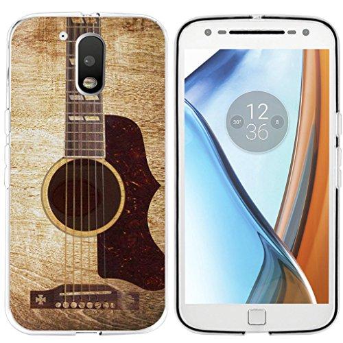 muqr Motorola 4G/4G Plus Cover 4. Generation-Gummi Schutz Halloween Fledermaus Design, Gitarre ()