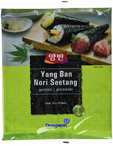 Dongwon Seetang, geröstet, für Sushi, 5er Pack  (5 x 25 g) (Für Sushi Seetang-blätter)