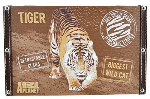 Animal Planet-Tigre Étui de rangement, bagages avec verrou en métal 30 cm x 19 cm cm x 17 cm