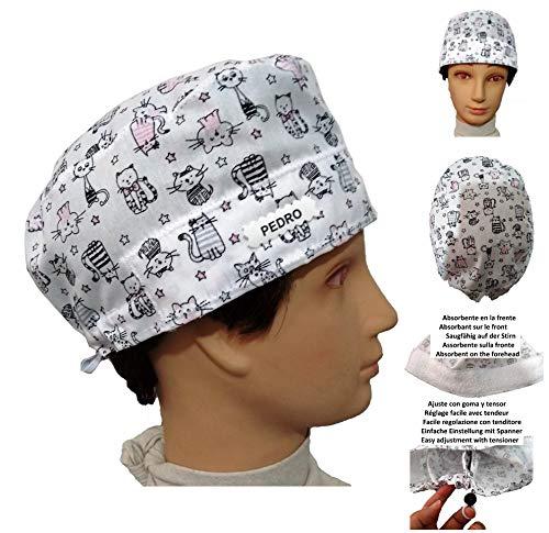 Surgical caps, Haube, kappe, Medizinische, küche, Für kurze Haare. Kätzchen. Mit Ihrem Namen auf freie Optionen.