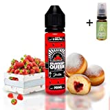 E Liquide Strawberry Queen The Jester 50 ml (Strawberry Jelly Donut) - Sans nicotine + Liquide The Boat 10ml Citron et citron vert - Sans nicotine et sans tabac.