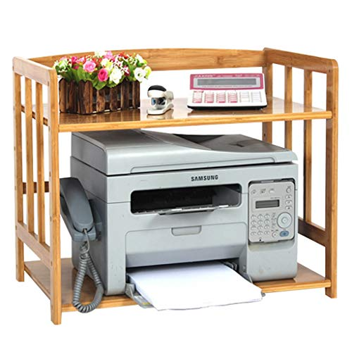Zhanghongshop Desktop-Drucker-Rack Home Drucker Regal Mikrowellenherd Rack Bad Multi-Layer-Lagerregal Organizer Faxgerät, einstellbar (Color : Wood Color, Size : 70 * 38 * 50CM) -