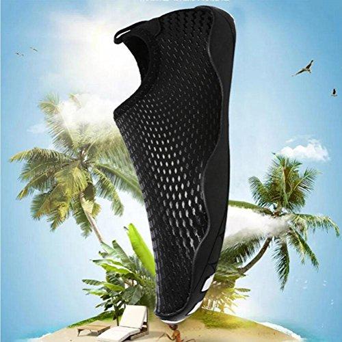 Paire De Chaussures Eau Aqua Pieds Nus Plage Natation Séchage Rapide Slip Sur Sneakers Chaussettes En Cuir Pour Hommes Femmes Unisexe Noir