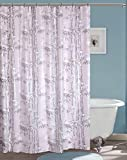 CASA FURNISHING PVC Plastic Shower Curtain with 8 Hooks; 54X108 [9FEET] Pack of 2