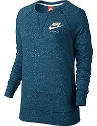 Nike W NSW Gym VNTG CRW - Camiseta de manga larga para mujer, color verde, talla XS