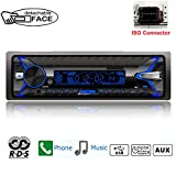 PolarLander 1 DIN Autoradio Desmontable Panel Frontal Car Radio RDS Bluetooth FM Tarjeta USB TF AUX IN Reproductor Mp3 de música de Control Remoto
