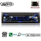 PolarLander 1 DIN Autoradio Desmontable Panel Frontal Car Radio RDS Bluetooth FM Tarjeta USB TF AUX IN Reproductor Mp3 de Música de Control Remoto
