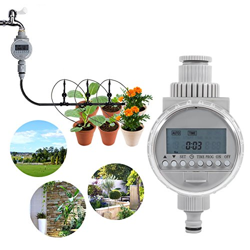 Temporizador de riego automático accionado Solar regulador Inteligente de la irrigación con la Pantalla del LCD Digital para la Hierba de la Planta del Invernadero del jardín casero