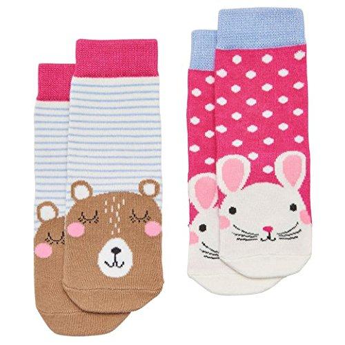 Multi-packs Socken (Joules Baby Girls Zwei Pack Zeichen Socken - Maus - 6-12 months)