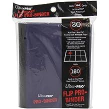 Ultra Pro Flip Pro-Binder Portfolio per Collettori, Album A5, 4 Tasche, Nero Blu