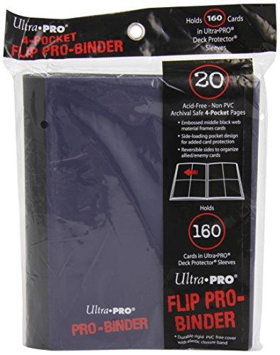 Ultra Pro 84026 - 4-Pocket Flip Pro-Binder, blau/schwarz -
