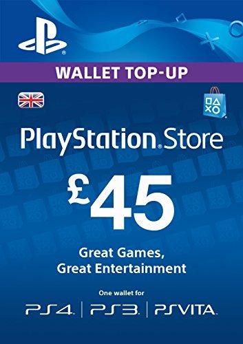 PSN CARD 45 GBP WALLET TOP UP [PSN Code - UK account]