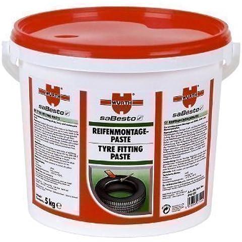 WÜRTH Pasta di montaggio pneumatico Lubrificante 5kg bianco