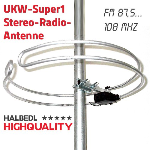 HHQ HalbedlHighQuality UKW-Stereo-Radio-Antenne Runddipol UKW-Super1